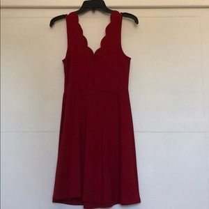 Red Aqua Dress